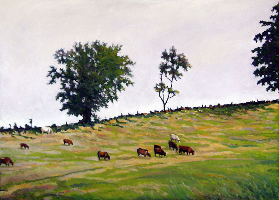 CATTLE ON THE RIDGE by Martin Soldat